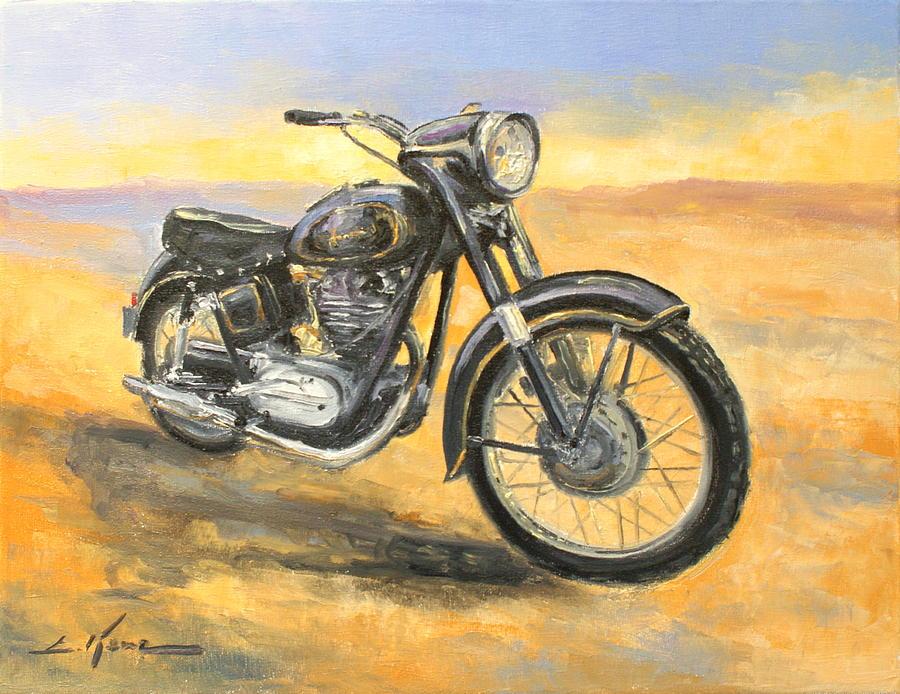 Junak M 10 Polish Motorcycle Painting By Luke Karcz