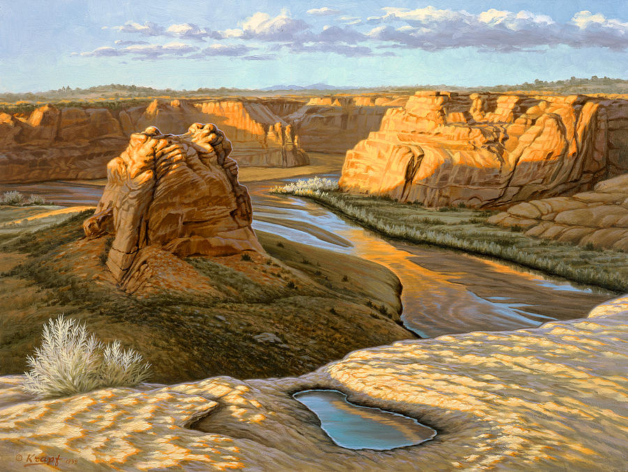 Landscape Painting - Junction Overlook - Canyon Dechelly by Paul Krapf