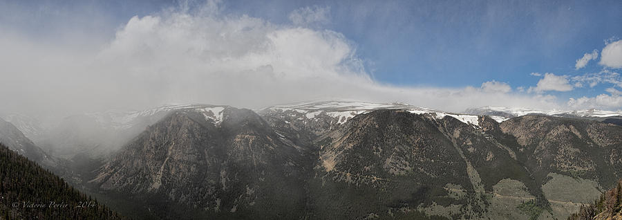 June Snow Squall Coming Down the Valley by Victoria Porter