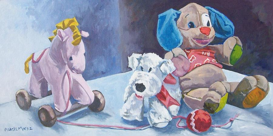 Toys For Painting : June s toys painting by michele marez