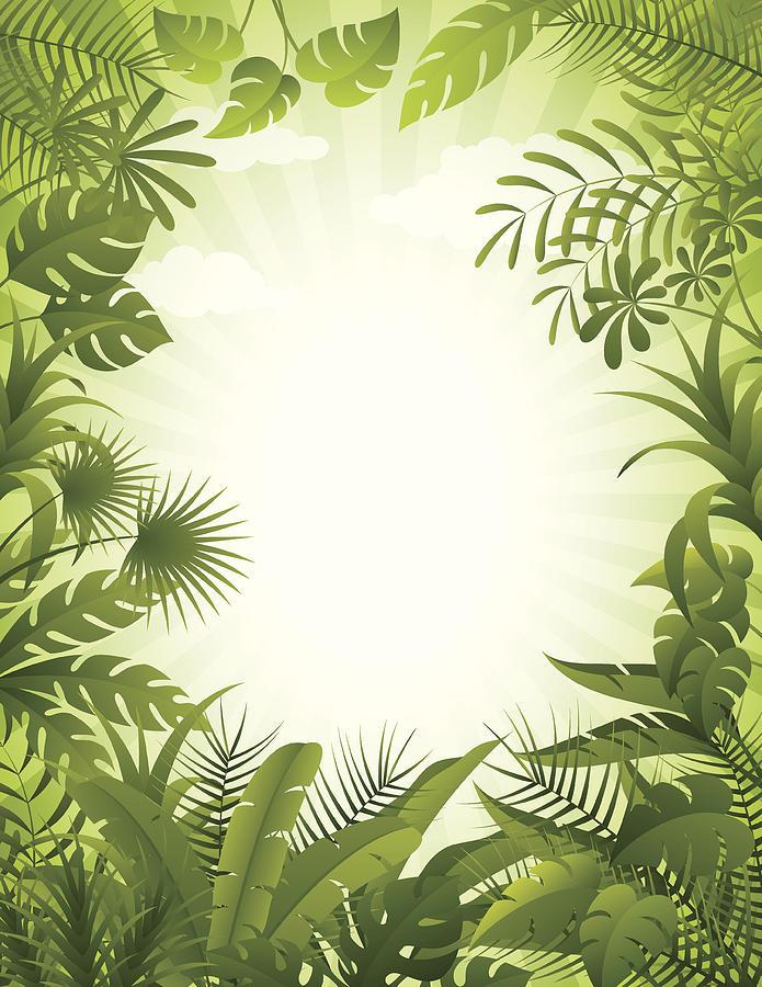 Jungle Background Drawing by AlonzoDesign