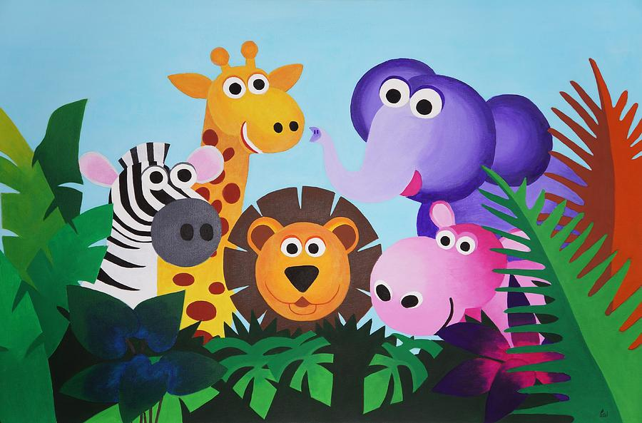 Jungle Painting - Jungle by Bav Patel