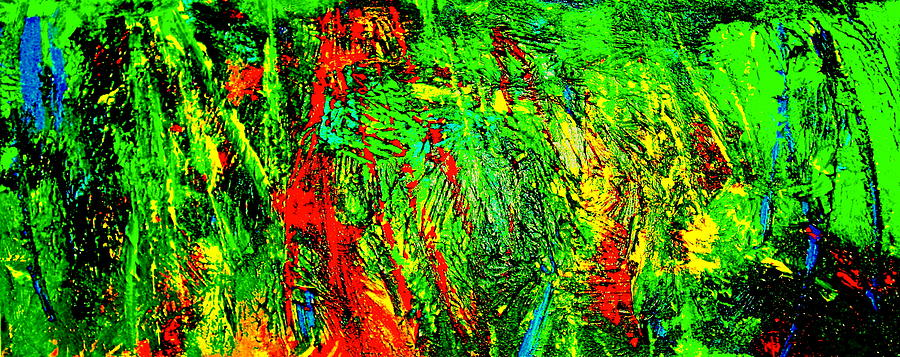 Abstract Painting Print Painting - Jungle Beat by Monique Wegmueller