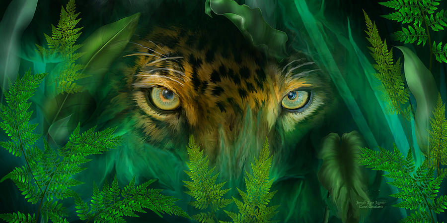 Jungle Eyes - Jaguar by Carol Cavalaris