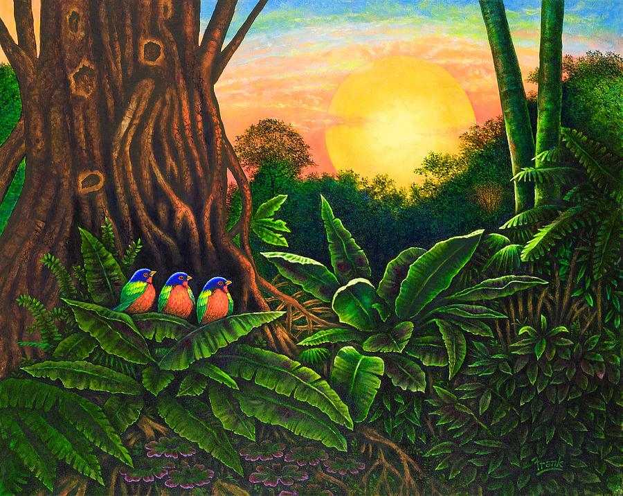Jungle Harmony IIi Painting by Michael Frank