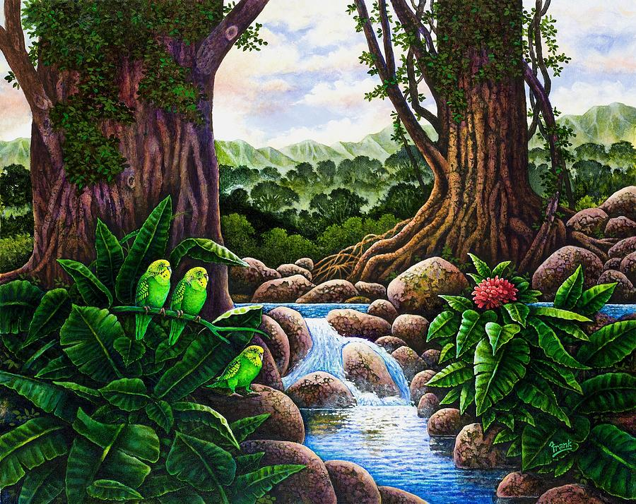 Jungle Harmony V Painting by Michael Frank