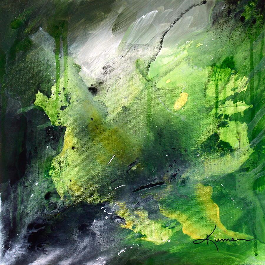 Green Painting - Jungle by Kume Bryant