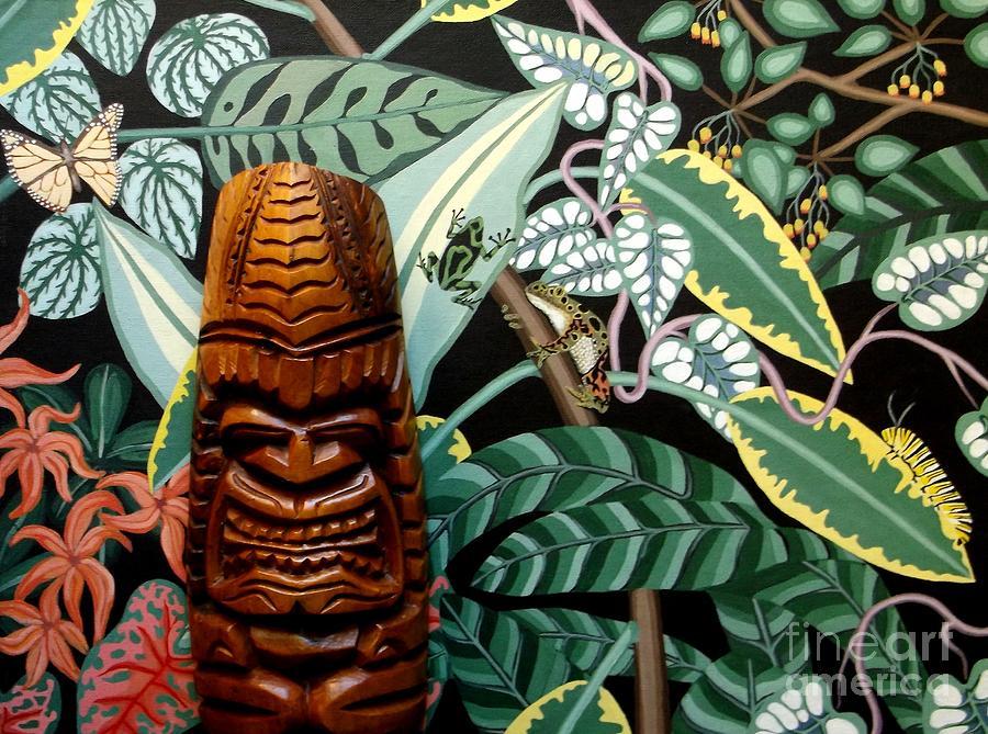 Tiki Painting - Jungle O Tiki by Anthony Morris