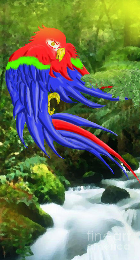Parrot Digital Art - Jungle Quaker by John Kreiter