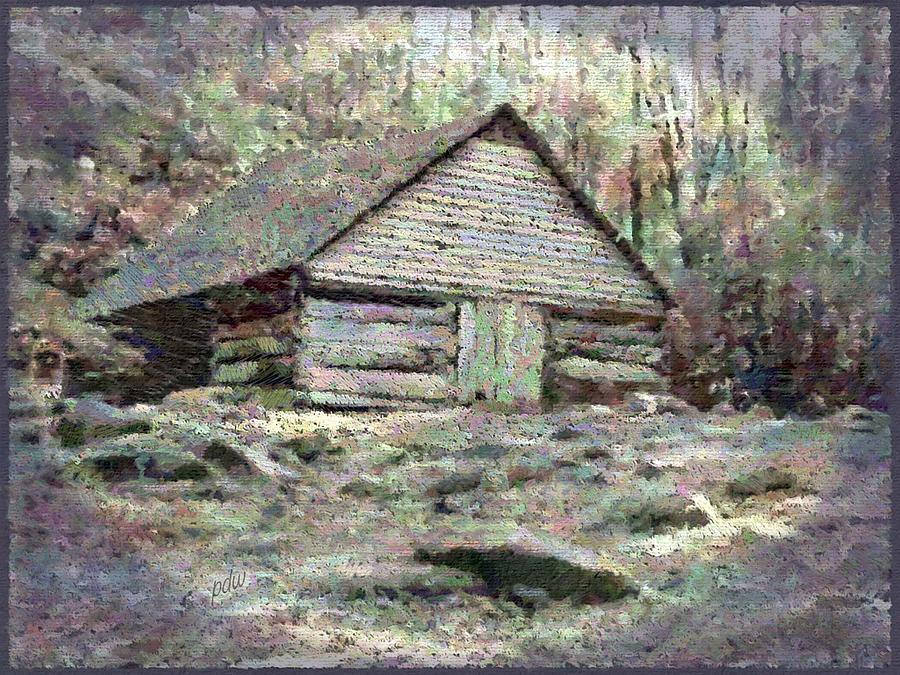 smoky Mountains Painting - Junglebrook Barn View 2 by Philip White