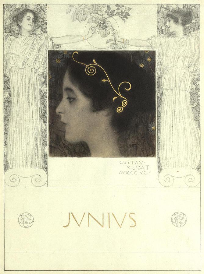 Gustav Klimt Painting - Junius by Gustav Klimt