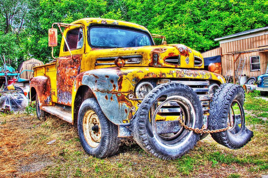 Junk Yard Tow Truck Photograph by Rick Ulmer
