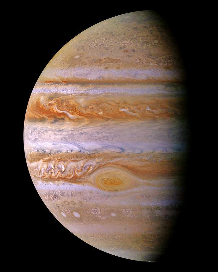 Jupiter Photograph - Jupiter And The Spot by Benjamin Yeager