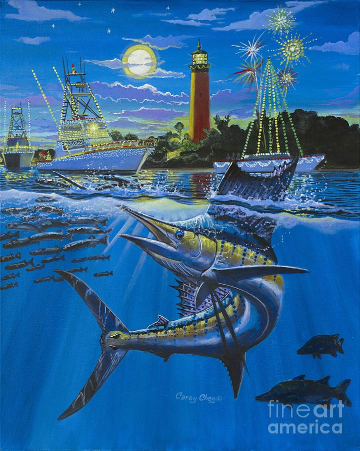Jupiter Painting - Jupiter Boat Parade by Carey Chen