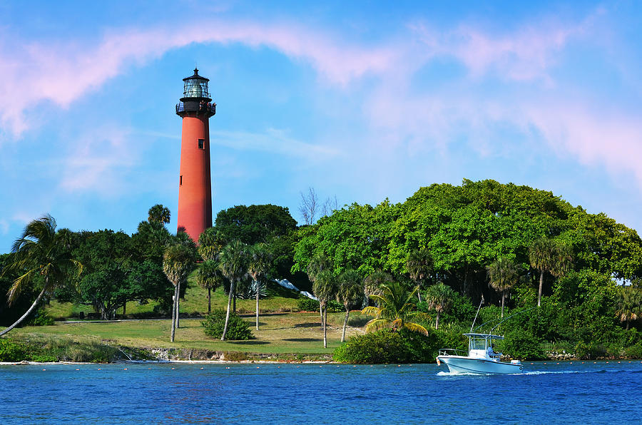 Jupiter Lighthouse Photograph - Jupiter Lighthouse by Laura Fasulo