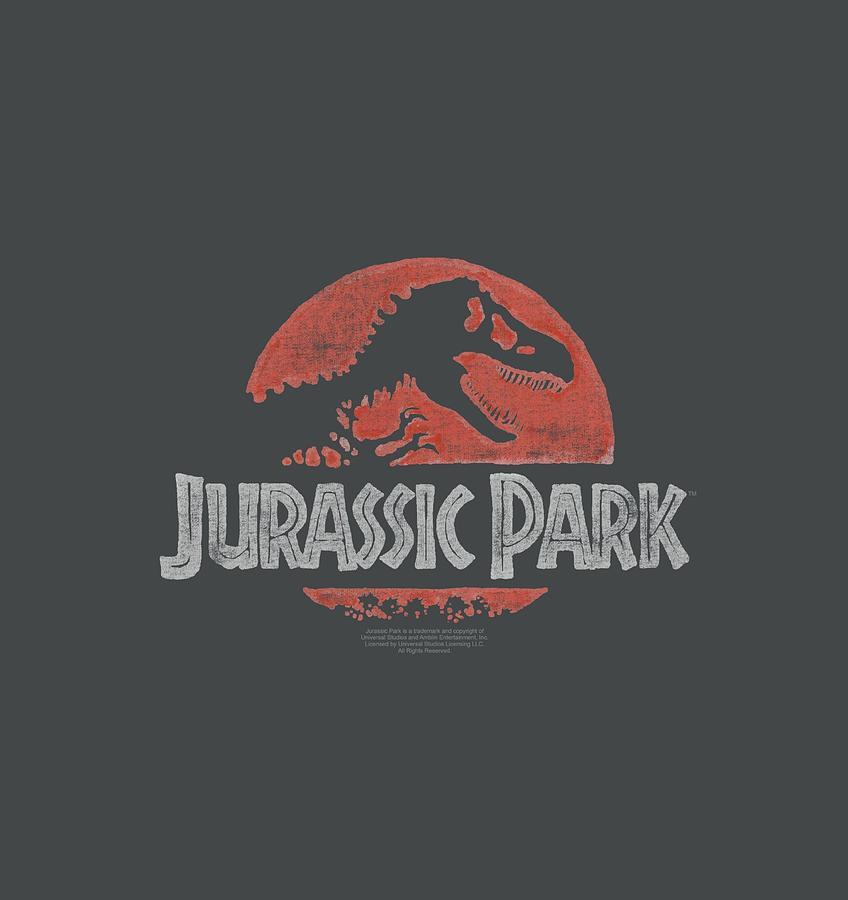 Jurassic Park Digital Art - Jurassic Park - Faded Logo by Brand A
