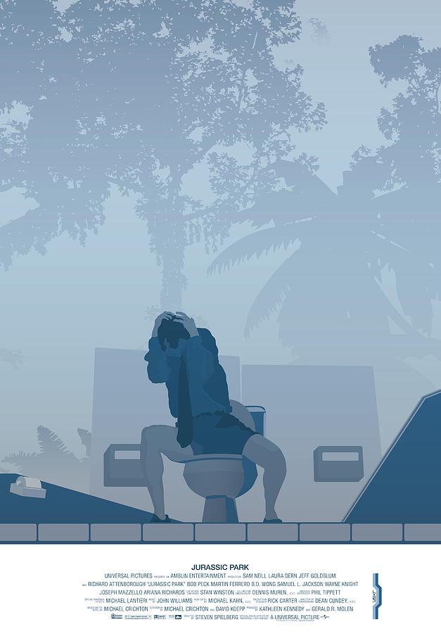 Jurassic Park Digital Art - Jurassic Park Poster - Feat. Gennaro by Peter Cassidy
