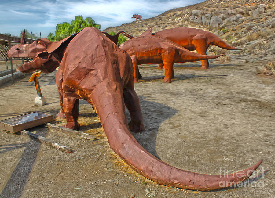 Jurupa Dinosaurs Painting by Gregory Dyer