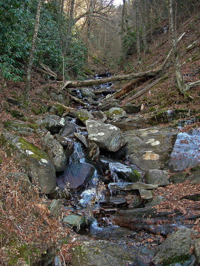 Smokey Mountains Photograph - Just A Creek by Skip Willits