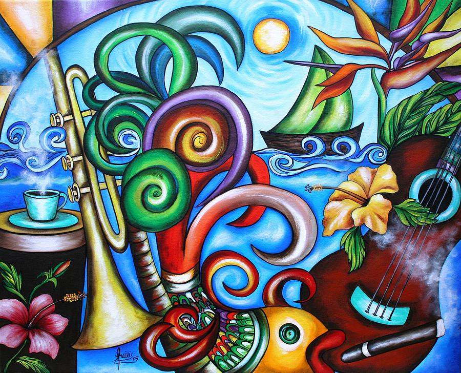 Cuba Painting - Just A Day In Paradise by Annie Maxwell