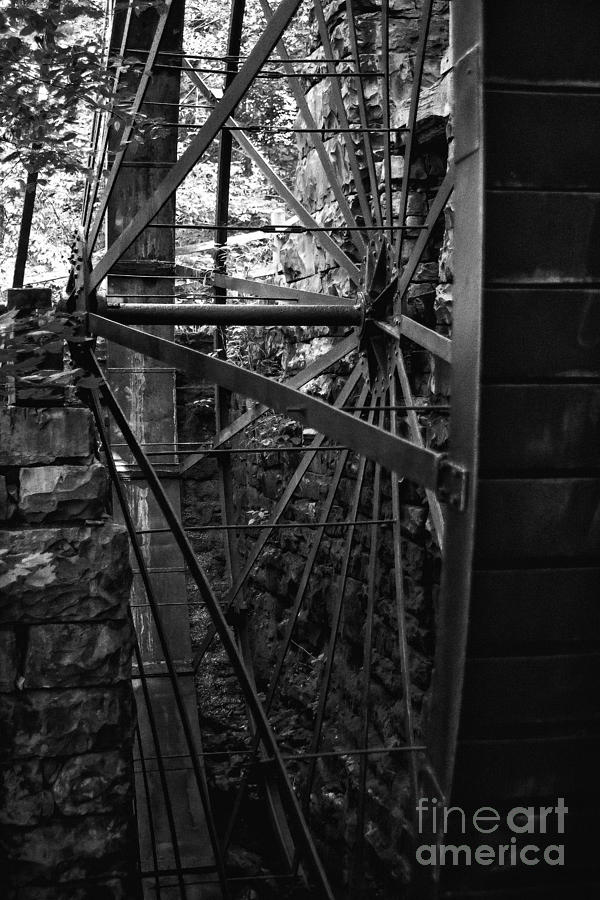 Mill Photograph - Just A Few Spokes by Wayne Stacy