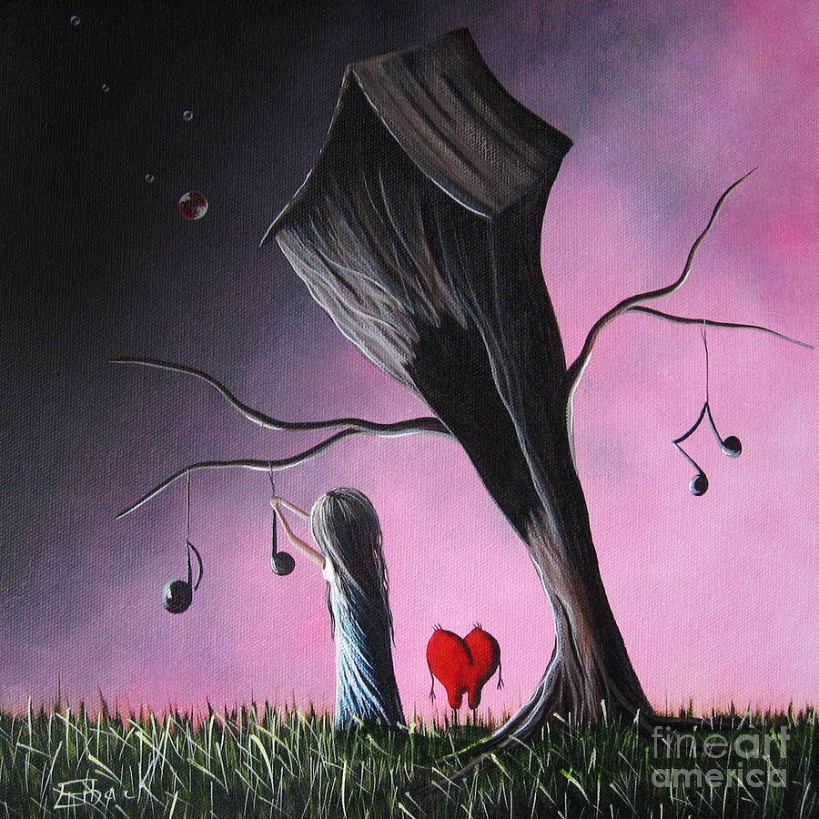Song Painting - Just A Little Love Song By Shawna Erback by Shawna Erback