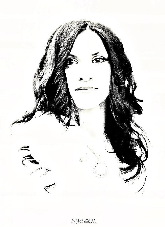 Portrait Digital Art - Just A Woman... by Mirella Hrvacanin