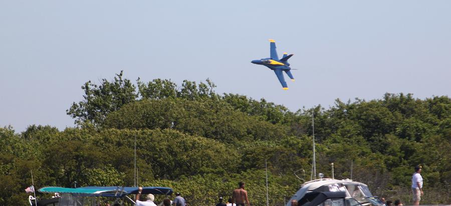 Blue Angels Photograph - Just Above The Trees by French Toast