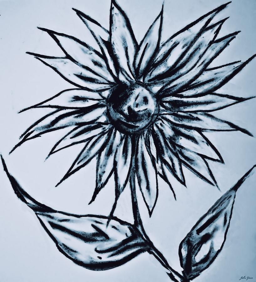 Flower Drawing - Just Add Water by John Grace