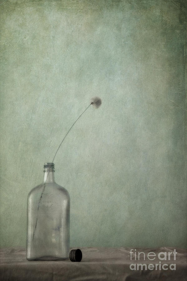 Cap Photograph - Just An Old Bottle And Its Cap by Priska Wettstein