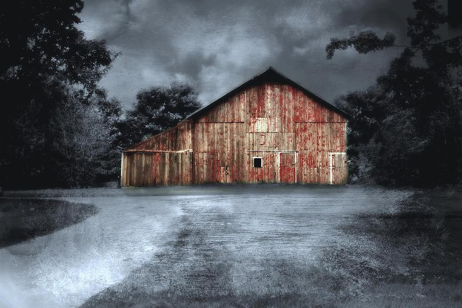Night Time Barn Photograph by Julie Hamilton