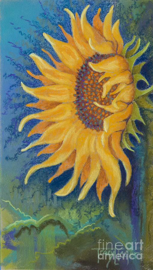 Sun Pastel - Just Another Sunflower by Tracy L Teeter