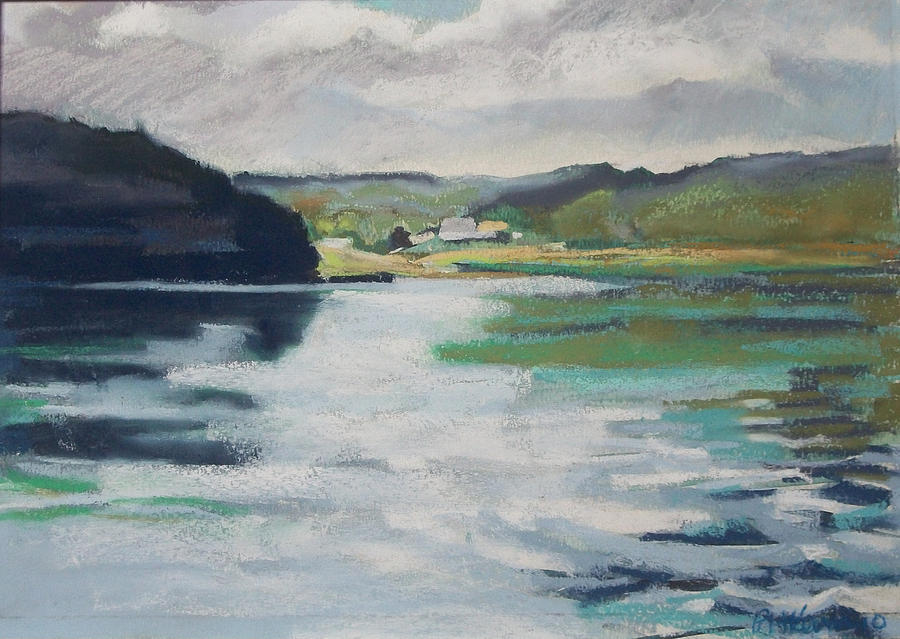 River Bend Pastel - Just Around The Bend by Grace Keown