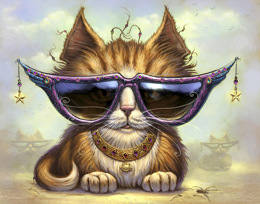Cat Artwork. Cats Painting - Just Be by Jeff Haynie