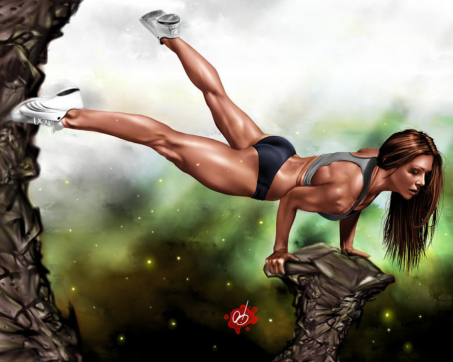 Fitness Painting - Just Because I Can by Pete Tapang