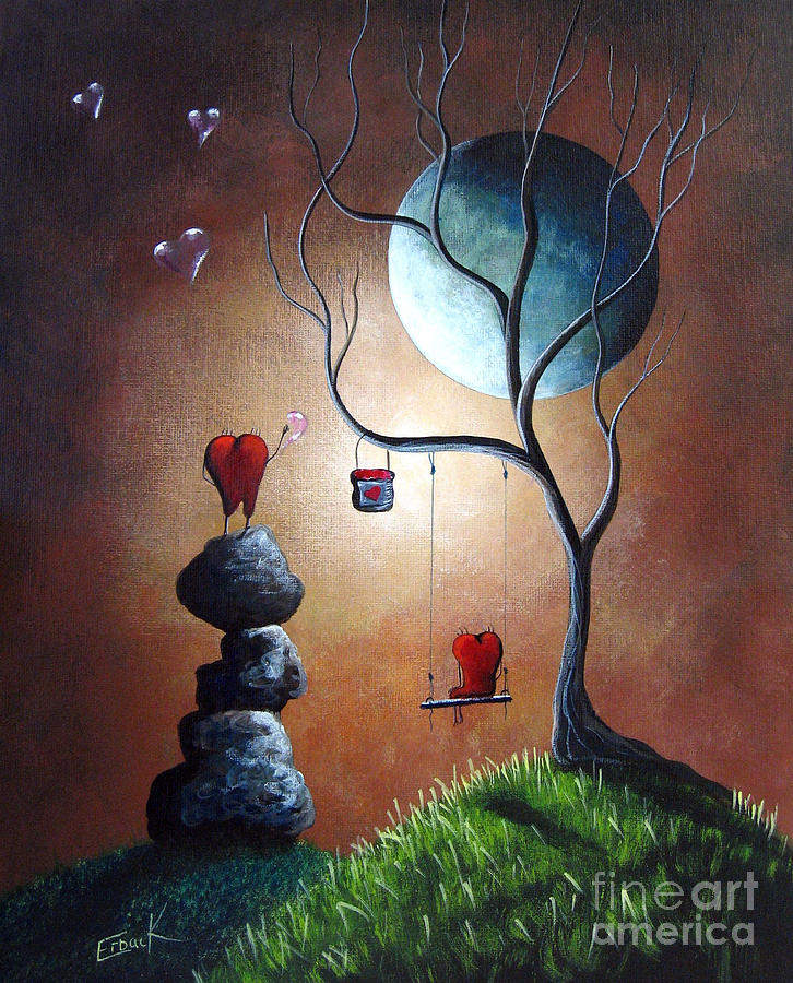 just because i love you by shawna erback painting by