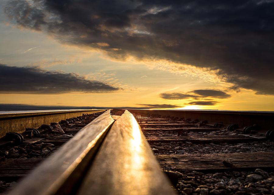 Railroad Photograph - Just Before Sunrise by Bob Orsillo