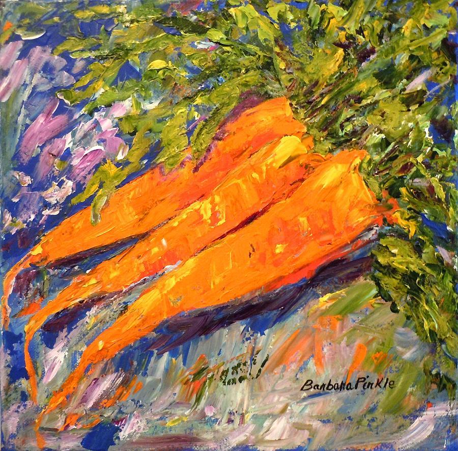Vegetables Painting - Just Carrots by Barbara Pirkle