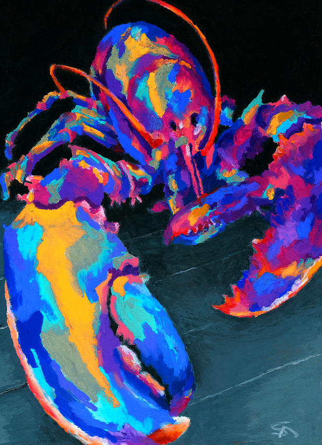 Lobster Painting - Just Claws by Stephen Anderson