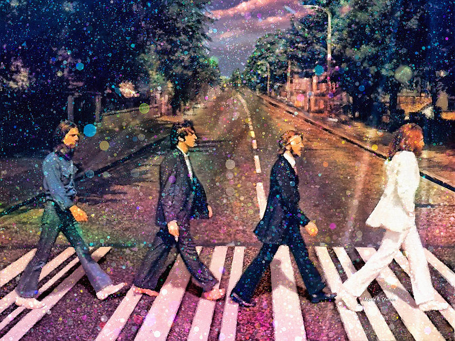 Beatles Painting - Just Crossing The Street by Angela A Stanton