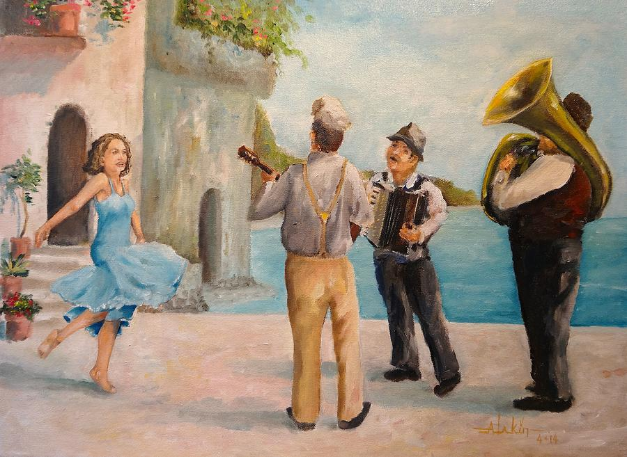 Greece Painting - Just Dance by Alan Lakin