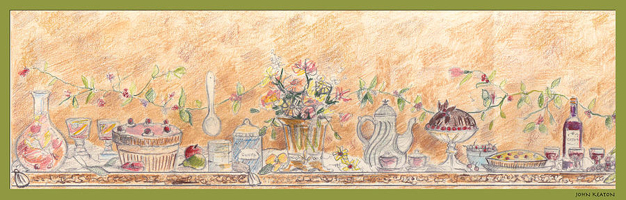 Desserts Drawing - Just Desserts by John Keaton