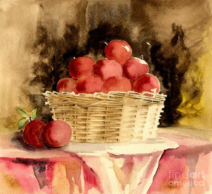 Peaches Painting - Just For You by Melly Terpening