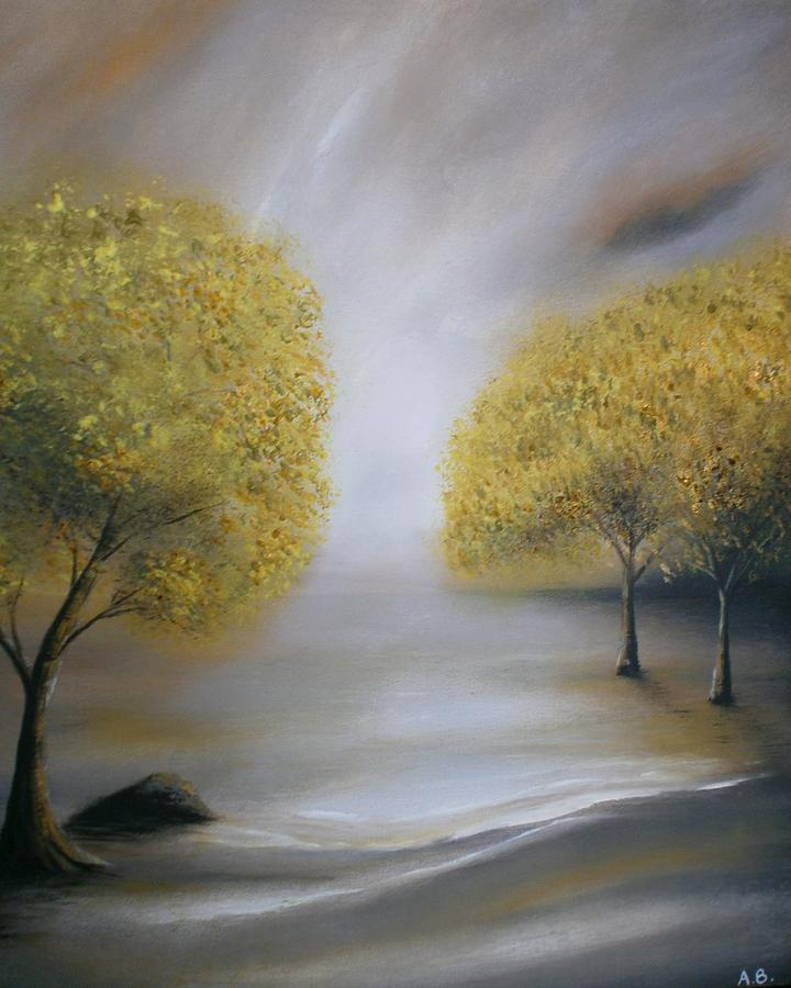 Trees Painting - Just Good Friends by Alan Brunt