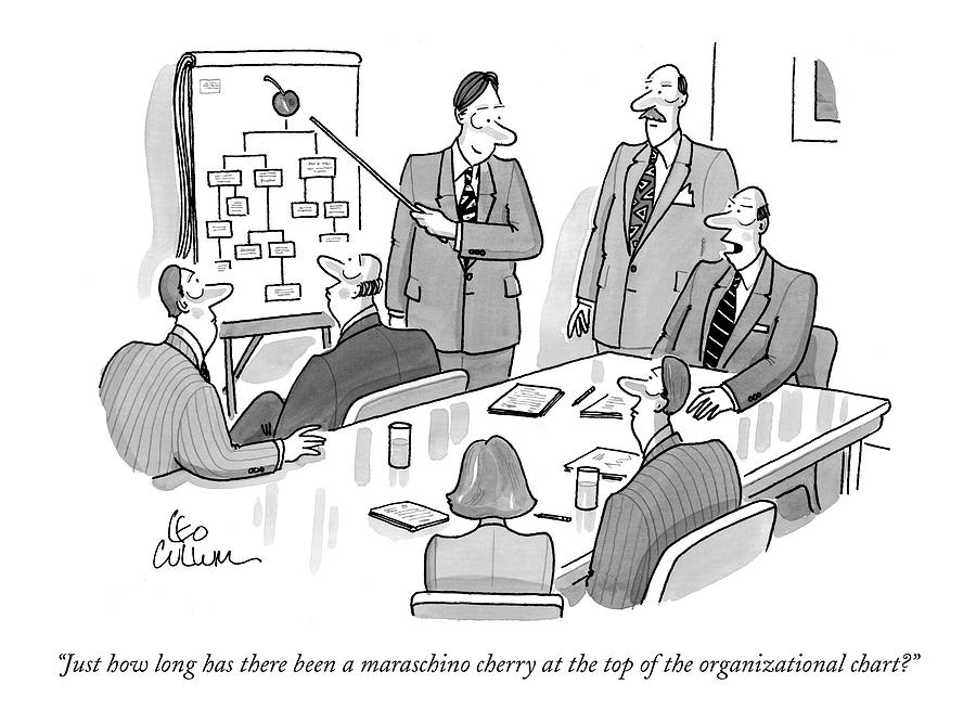 Business Drawing - Just How  Long Has There Been A Maraschino Cherry by Leo Cullum