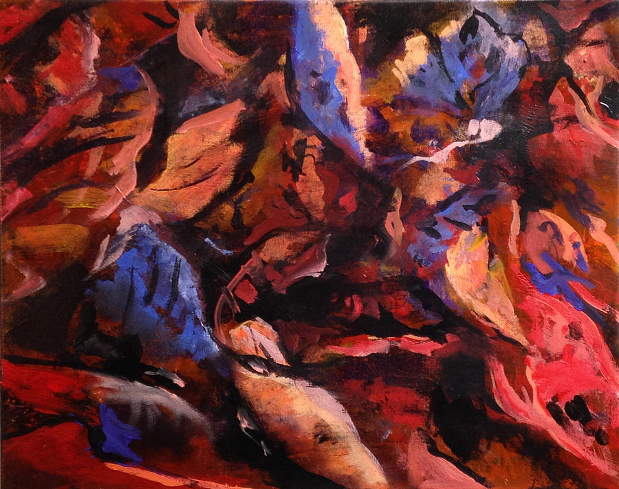 Abstract Painting - Just Leaf by W  Scott Fenton