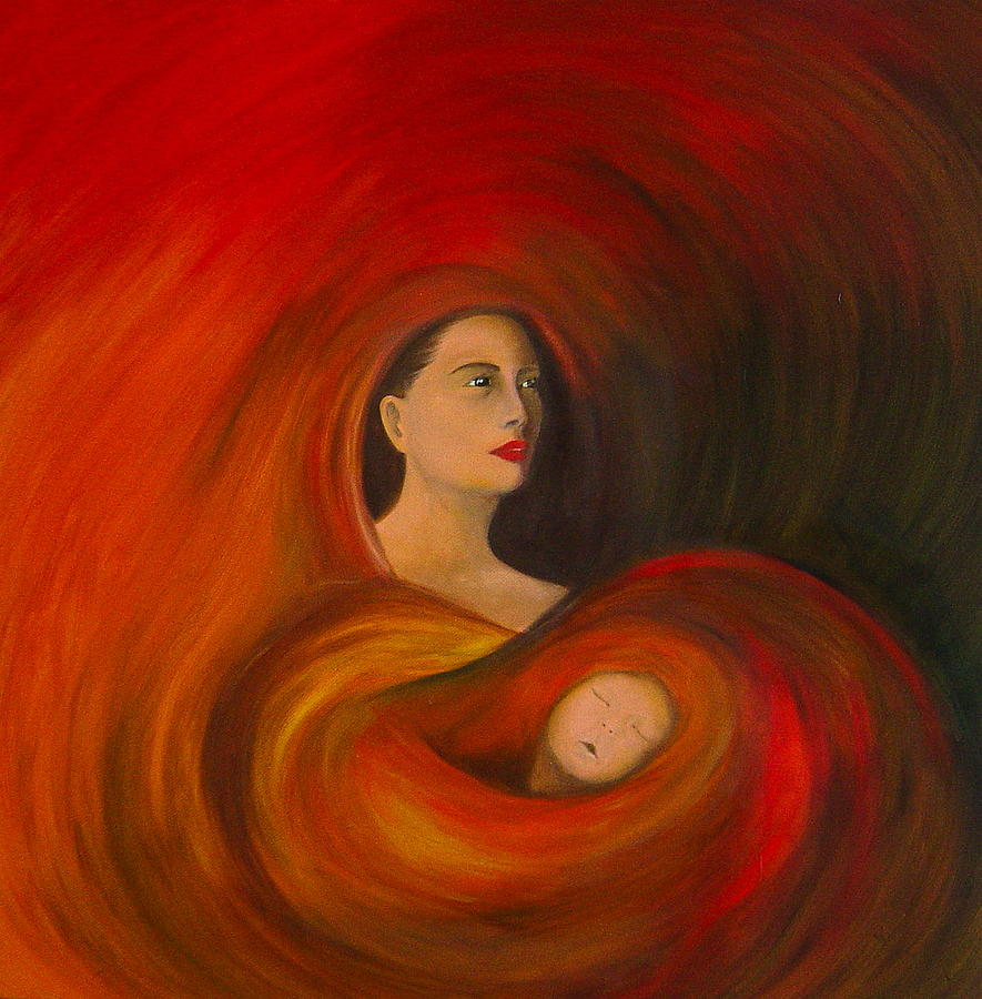 Verve Painting - ..just  Love.. by Fanny Diaz