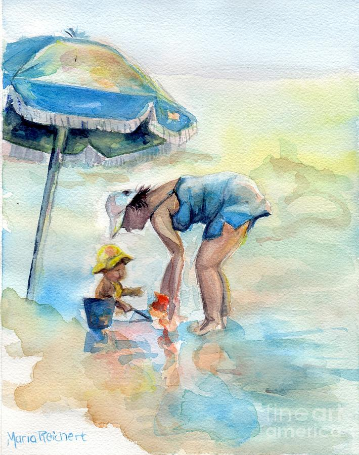 Seascape Painting - Just Me And You by Maria Reichert