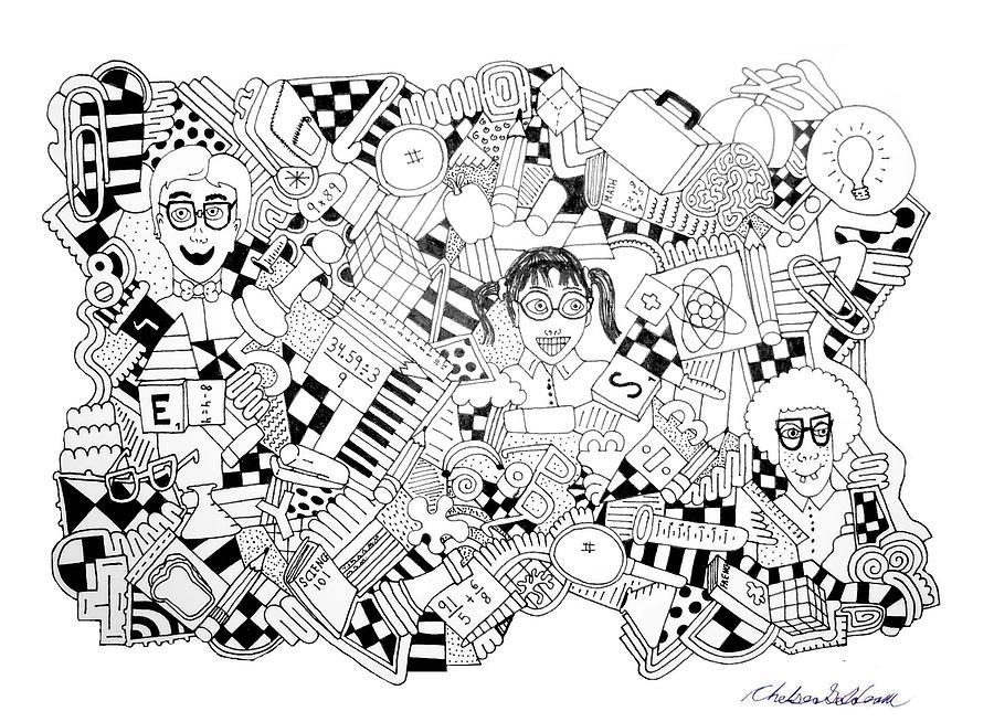 Random Objects Drawing - Just Nerdy Things by Chelsea Geldean