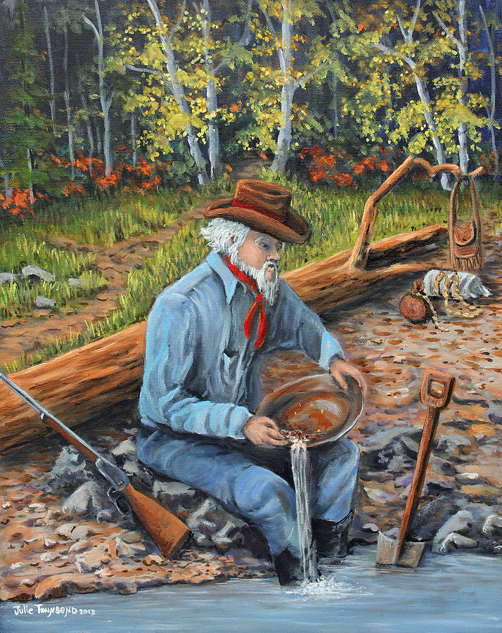 Nevada Painting - Just One More Pan by Julie Townsend